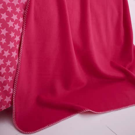 Ditsy Star Pink Throw