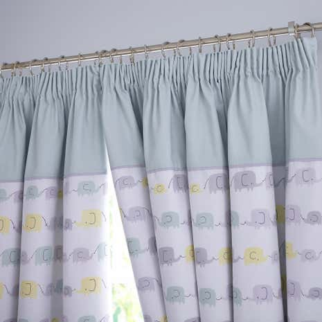 Ellie And Friends Nursery Blackout Pencil Pleat Curtains Dunelm