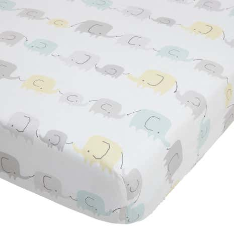 Ellie and Friends Grey Nursery Cot Pair of Fitted Sheets