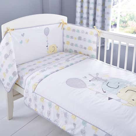 Ellie and Friends Nursery Coverlet and Bumper Set