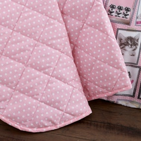 Fluffy Friends Pink Bedspread