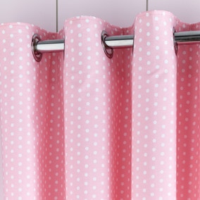 Fluffy Friends Pink Blackout Eyelet Curtains