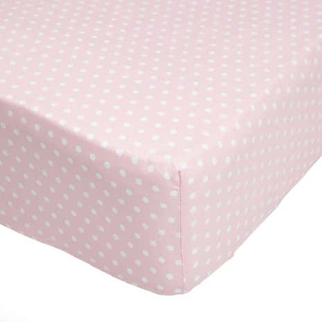 Fluffy Friends Pink 25cm Fitted Sheet