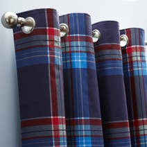 George Check Blackout Eyelet Curtains