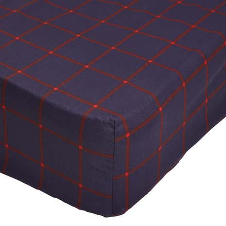 George Check 25cm Fitted Sheet