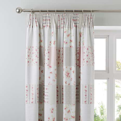 Katy Rabbit Blackout Pencil Pleat Curtains