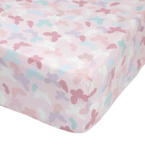Maisie Heart Pink 25cm Fitted Sheet