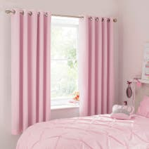 Pink Mia Blackout Eyelet Curtains