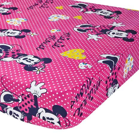 Disney Minnie Mouse Pink 25cm Fitted Sheet