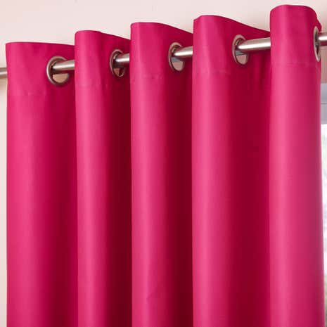 Pink Blackout Eyelet Curtains