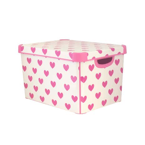 Kids Pink Hearts Storage Box
