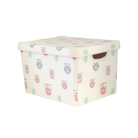 Kids Pretty Owls Storage Box