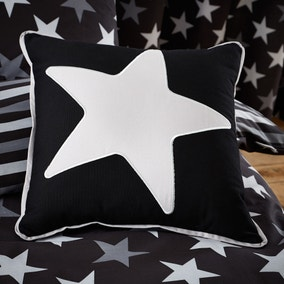 Stars Black Cushion
