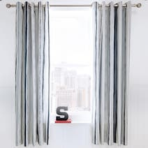 Urban Skater Charcoal Eyelet Curtains