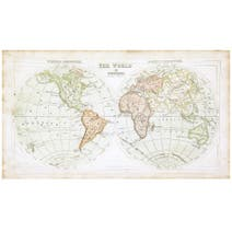 Antique Map Canvas