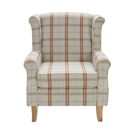 dark check edinburgh wingback chair