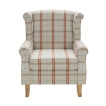 Edinburgh Dark Check Armchair