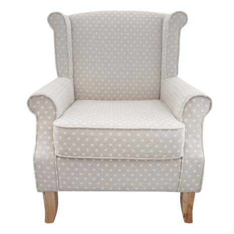 Dotty Natural Edinburgh Armchair
