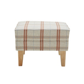 Edinburgh Dark Check Footstool