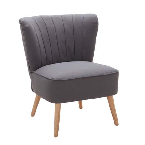 Charcoal Elements Chair. Loz_exclusive_to_dunelm
