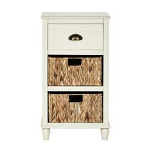 Portland Cream 3 Drawer Bedside Table
