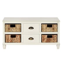 Portland Cream 6 Drawer Coffee Table