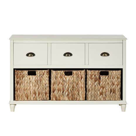 Portland Cream 6 Drawer Console Table