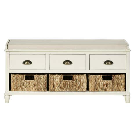 Portland Cream 6 Drawer Storage Bench