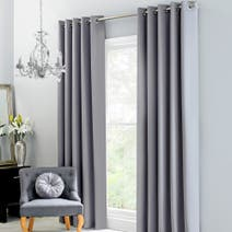 Claire Grey Thermal Eyelet Curtains