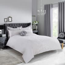 Grey Claire Duvet Cover