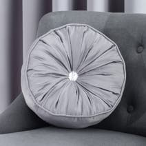 Grey Claire Round Cushion