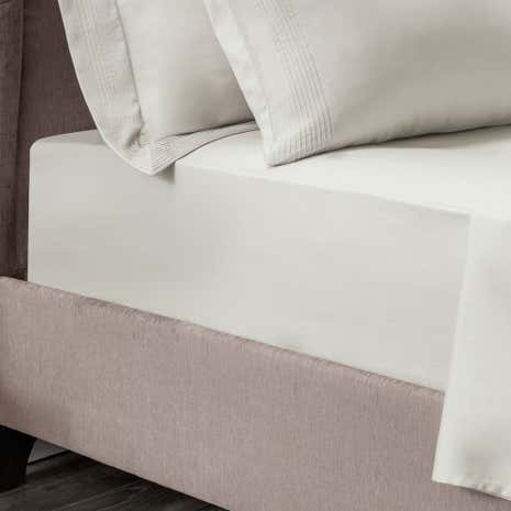 Hotel Pintuck 300 Thread Count Taupe 32cm Fitted Sheet