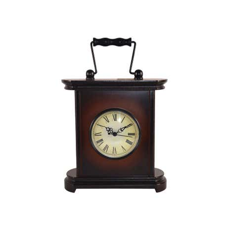 Traditional Wooden Mantel Clock