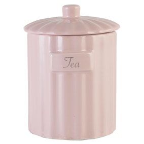 Pretty Pastels Tea Canister