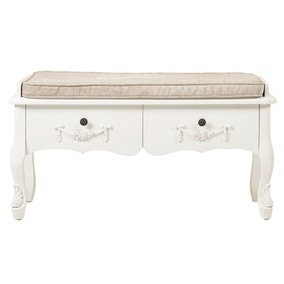 Toulouse White Bench