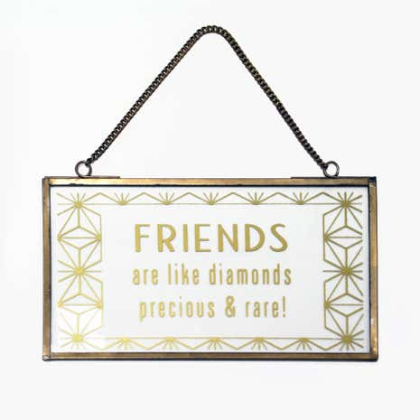 Gold Metal Edged Hanging Sign