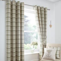 Balmoral Green Blackout Eyelet Curtains