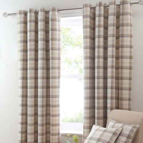 Balmoral Ochre Blackout Eyelet Curtains
