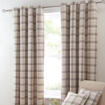Ochre Balmoral Blackout Eyelet Curtains