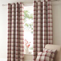 Red Balmoral Blackout Eyelet Curtains