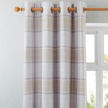 Dorma Sherbourne Natural Lined Eyelet Curtains