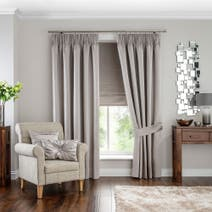 Hotel Oyster Venice Pencil Pleat Black Out Curtains
