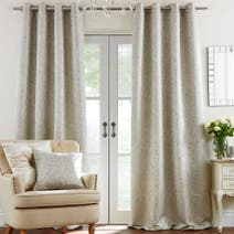 Duck Egg Richmond Lined Eyelet Curtains