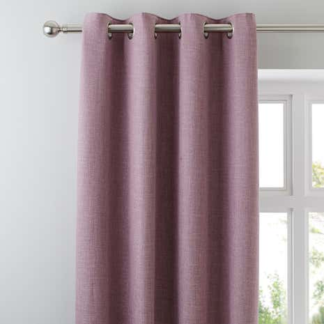 Vermont Mauve Lined Eyelet Curtains