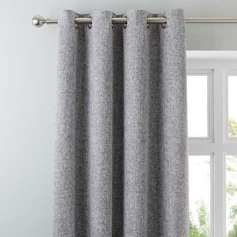 Vermont Monochrome Eyelet Lined Curtains