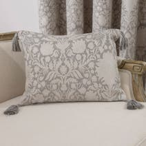 Silver Kensington Boudoir Cushion