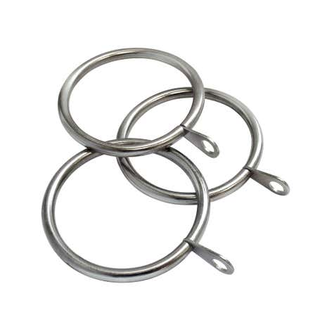 Holford Satin Silver Pack of 12 Dia. 28mm Curtain Rings