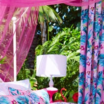 Accessorize Tropical Orchid Lined Pencil Pleat Curtains