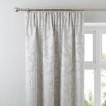 Silver Canterbury Pencil Pleat Curtains