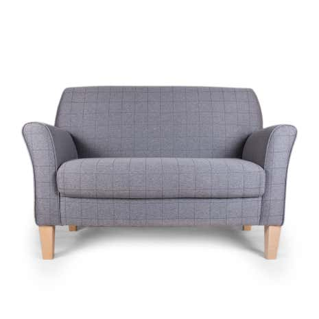 Lucielle Elliot Check Grey Two Seater Chair